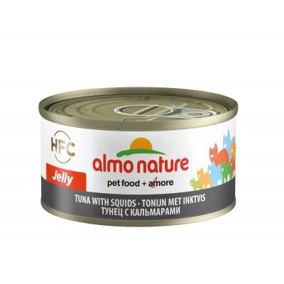 Almo Nature Jelly для кошек, тунец с кальмарами