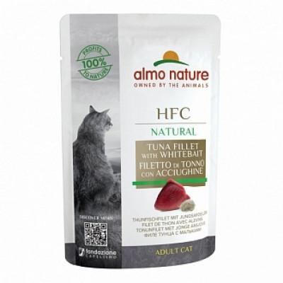 Almo Nature HFC для кошек, филе тунца с мальками (пауч)