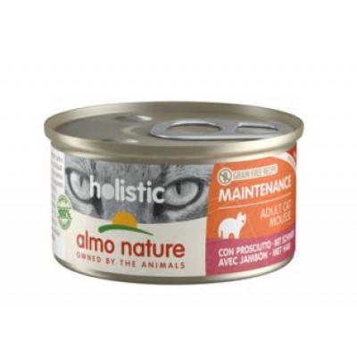 Almo Nature Holistic консервы д/кошек с ветчиной