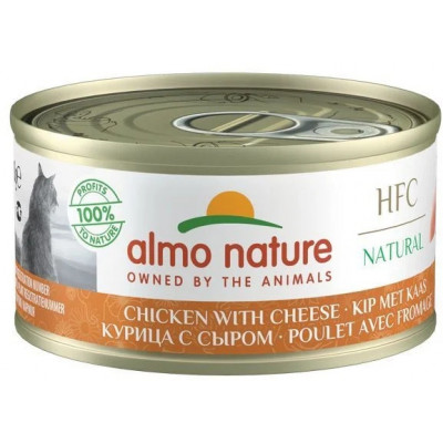 Almo Nature для кошек, курица с сыром
