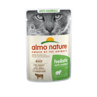 Almo Nature с говядиной для вывода шерсти у кошек (пауч)