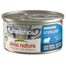 Almo Nature Holistic Sterilised для стерилизованных кошек c форелью