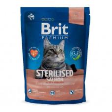 Корм Brit Premium  для стерилизованных/кастрированных кошек и котов с лососем