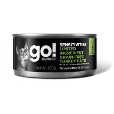 Консервы GO! Natural Holistic для кошек с индейкой и с чувствительным пищеварением