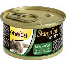 Консервы Gimpet ShinyCat для кошек, цыплёнок с ягнёнком