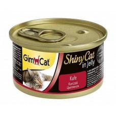 Консервы Gimpet ShinyCat для кошек, цыплёнок