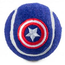 Игрушка для собак Marvel Капитан Америка «Мяч теннисный», d70мм