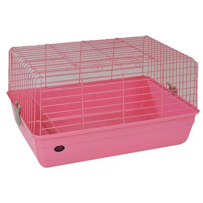 Клетка для кроликов, розовая