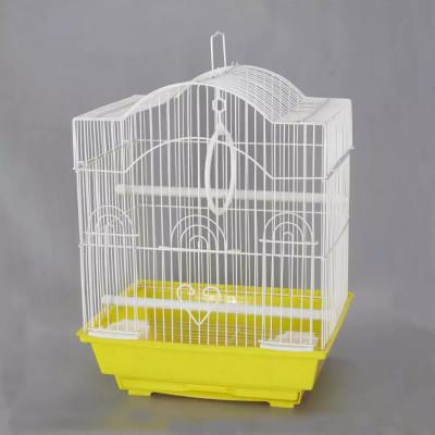 Клетка для птиц, жёлтая