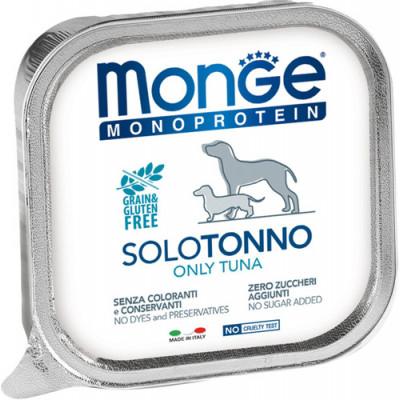 Корм Monge Monoprotein для собак паштет из тунца
