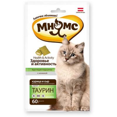 Мнямс, хрустящие подушечки для здоровья и активности кошек