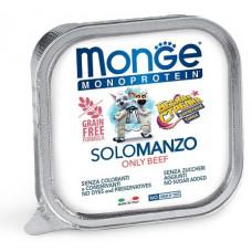 Корм Monge Monoprotein для собак паштет из говядины