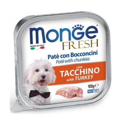 Корм Monge Dog Fresh для собак паштет с индейкой