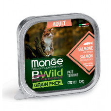 Monge Cat BWild паштет из лосося с овощами