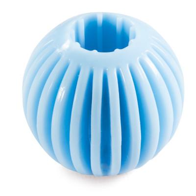 """Игрушка PUPPY для щенков из термопласт. резины """"Мяч"""", голубой, d55мм"""