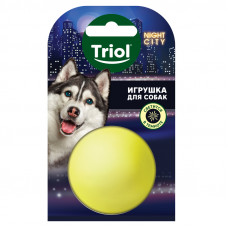 """Игрушка NIGHT CITY для собак из винила """"Мяч-неон"""", d50мм"""