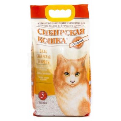 Наполнитель комкующийся Сибирская кошка, Оптима