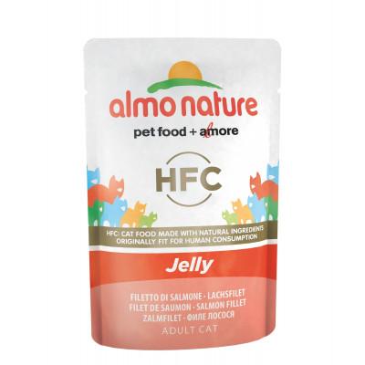 Almo Nature Jelly с лососем в желе для взрослых кошек (пауч)