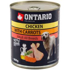 Ontario консервы для собак с курицей и морковью