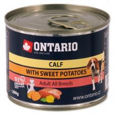 Ontario консервы для собак малых пород, телятина и батат