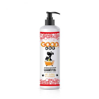 Good Dog Антипаразитарный шампунь для щенков и собак от блох и клещей