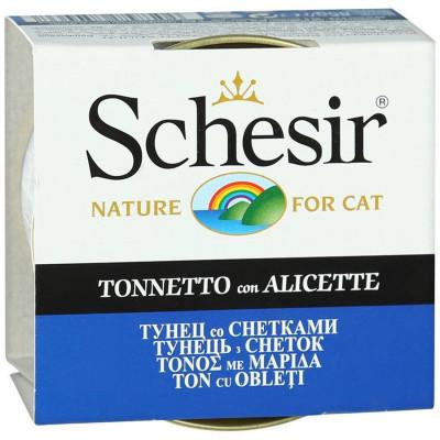"""Schesir корм для кошек """"Тунец со снетками"""""""