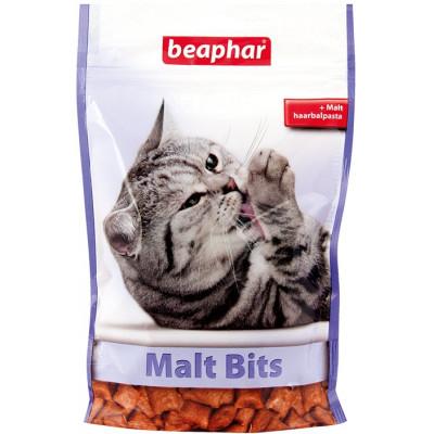 Beaphar хрустящие подушечки «Malt Bits» для выведения шерсти из желудка