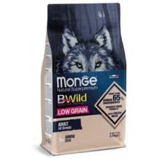 Корм Monge Dog BWild низкозерновой из мяса гуся для взрослых собак всех пород