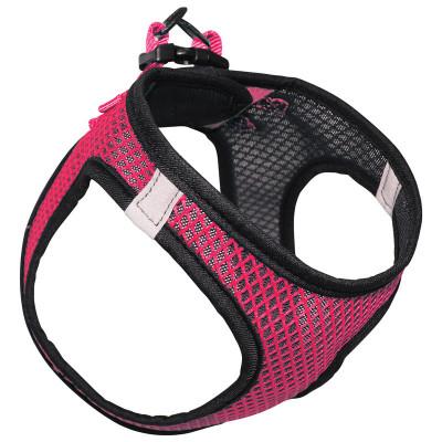 Шлейка-жилетка нейлоновая розовая XL, обхват груди 520-560мм