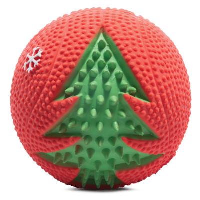 """Игрушка для собак из латекса """"Мяч с елкой"""", d50мм"""