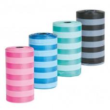 Пакеты для уборки за собаками, 4 рулона по 20 шт, цветные