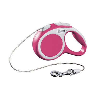Flexi рулетка VARIO S (до 12 кг) 5м трос, розовый