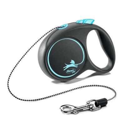 Flexi рулетка Black Design XS (до 8 кг) 3 м трос черный/голубой