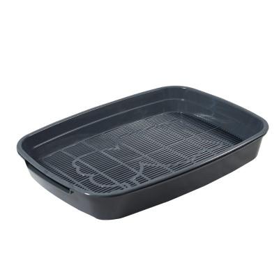 """Туалет для кошек с сеткой малый """"Леопольд"""", серый, 340*260*50мм"""