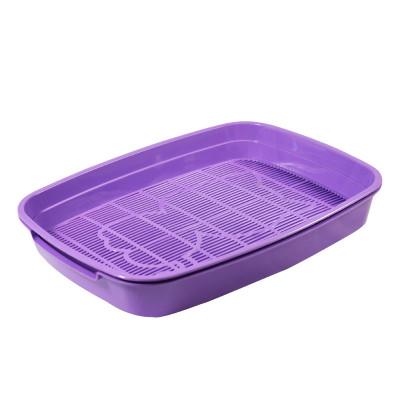 """Туалет для кошек с сеткой малый """"Леопольд"""", фиолетовый, 340*260*50мм"""