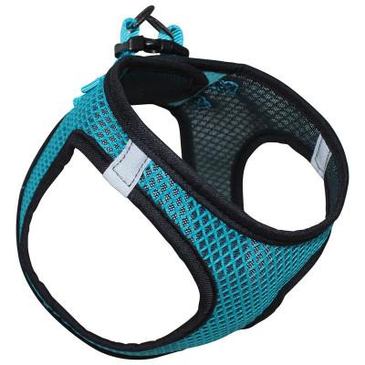 Шлейка-жилетка нейлоновая бирюзовая S, обхват груди 370-400мм