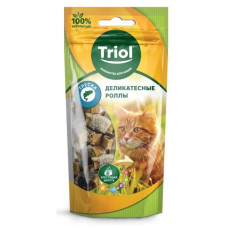 Triol лакомство для кошек деликатесные роллы из трески