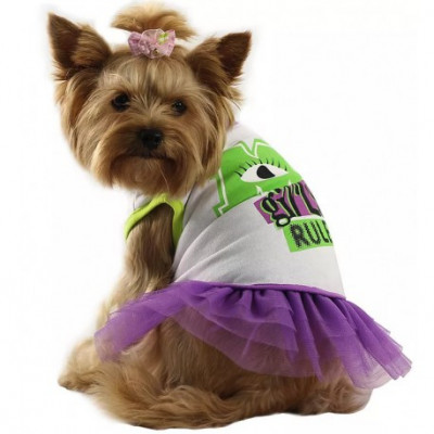 Футболка для собак с юбкой