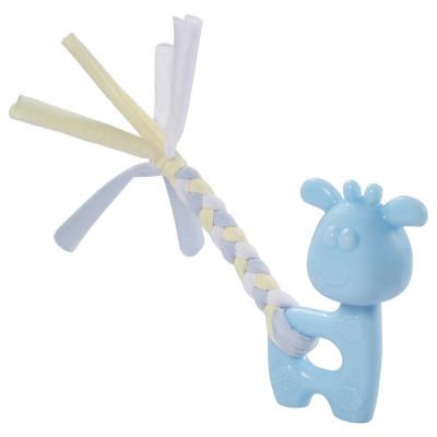 """Игрушка для щенков из термопласт. резины """"Олененок"""", голубой, 100/185мм"""