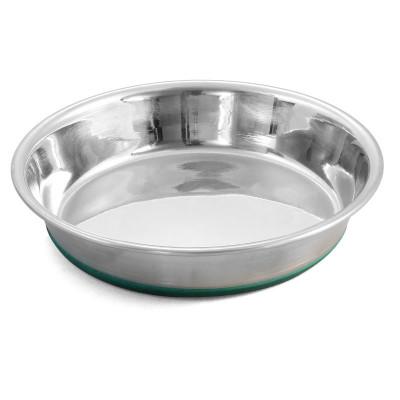 Миска-блюдце металлическая на резинке утяжеленная, 0,25л