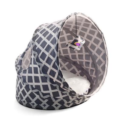 Лежанка-туннель для кошек, серая, 430*380*350мм