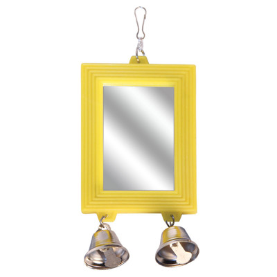 "Игрушка для птиц - зеркало ""Колокольчики"", 80*175мм"