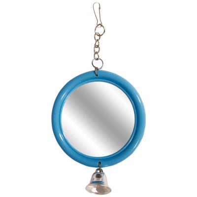 """Игрушка для птиц """"Зеркало с колокольчиком"""", 120*d60мм"""