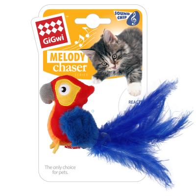 """Игрушка для кошек GiGwi """"Попугай со звуковым чипом"""""""