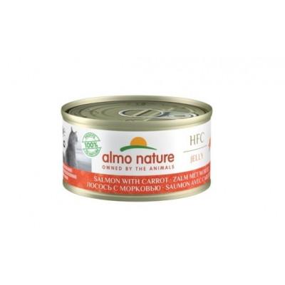 Almo Nature HFC Jelly консервы для кошек с лососем и морковью