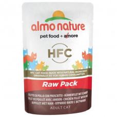 """Корм Almo Nature HFC Паучи для кошек """"Куриное филе с ветчиной"""""""