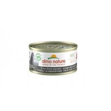 Almo Nature HFC Jelly консервы для кошек с тунцом и кальмарами
