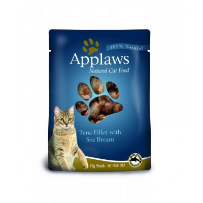 """Корм Applaws для кошек """"Тунец с морским окунем"""" (пауч)"""