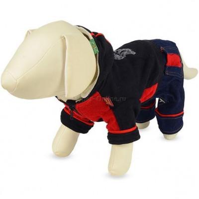 Костюм для собак с джинсовыми вставками