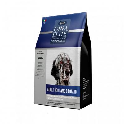 Корм Gina Elite Dog для взрослых собак с ягнёнком и картофелем